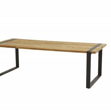 Austin tafel 180cm met alu/antraciet onderstel