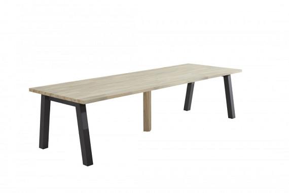Wenen tafel 300cm met alu/antraciet onderstel