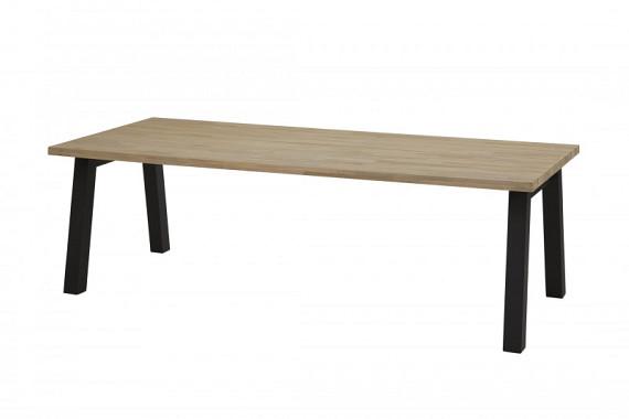 Wenen tafel 240cm met alu/antraciet onderstel