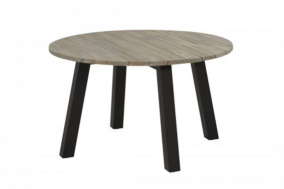Wenen tafel 130cm rond met alu/antraciet onderstel